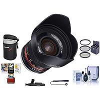 Rokinon 12mm f/2.0 NCS CS Manual Focus Lens Sony E Mount Nex Series Mirrorless Cameras - Bundle With 67mm Filter Kit, Lens Case, Cleaning Kit, Capleash II, Lenspen Lens Cleaner, Mac Software Package