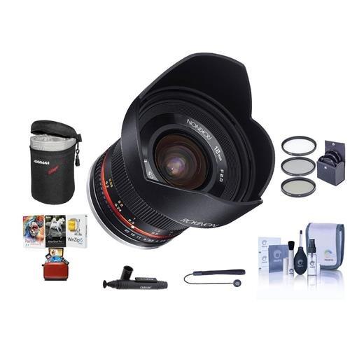 Rokinon 12mm f/2.0 NCS CS Manual Focus Lens Sony E Mount Nex