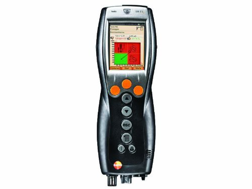 Testo 0632 3307 00 330-2G LL Combustion Analyzer with O2, CO, Auto Dilution and Bluetooth (Ll Combustion Analyzer)