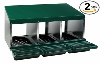Homestead Essentials Roll Out Poultry Nesting Box for Chickens - 3 Compartment - 2 Pack
