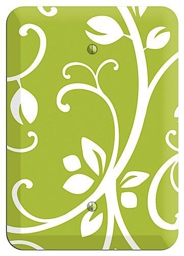 Green Bud Sprig Blank Wallplate ()