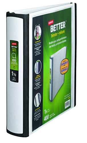 Staples Better Binders D Rings White product image
