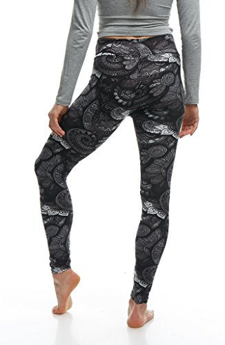 LMB Lush Moda Extra Soft Leggings with Designs- 505YF Floral Abstract Yoga by LMB (Image #9)