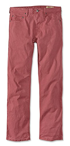 Orvis Men's 5-Pocket Stretch Twill Pants, Faded Red, 32, Inseam: 30 ()