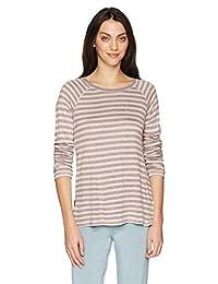PJ Salvage Womens Standard Revival Lounge Long Sleeve Stripe Top