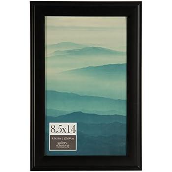 amazon com arttoframes 8x14 inch satin black picture frame