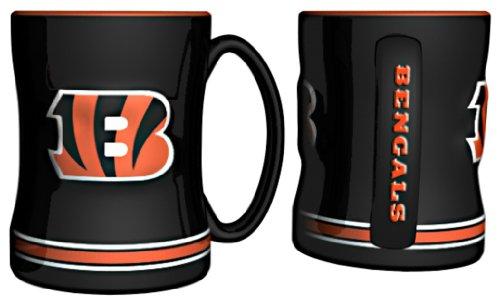 NFL Sculpted Coffee Mug, 14 Ounces, Cincinnati Bengals