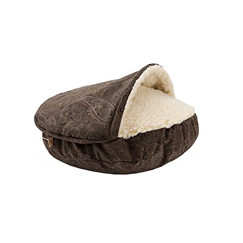 - Snoozer Luxury Orthopedic Cozy Cave, Large, Laurel Mocha