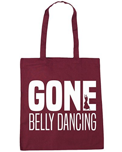 42cm Bag Dancing x38cm Gym Shopping HippoWarehouse Burgundy Gone Tote 10 litres Beach Belly nwqx8n1A0g