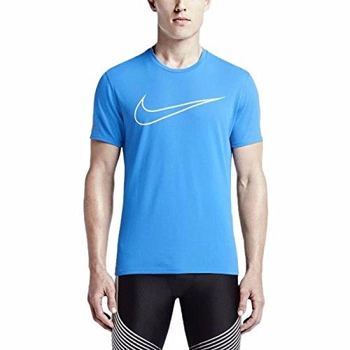 à Manches Shirt Nike Longues Femme clair Blanc photo Fit Dri Contour T Bleu FF0Tw