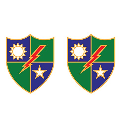 (Two Pack US Army 75th Ranger Regiment Distinctive Unit Insignia Stickers Vinyl Decal )