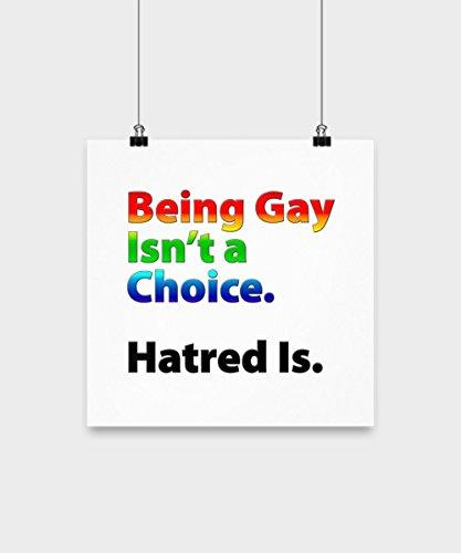 Lgbt Pride Rainbow Being Gay Lesbian Transgender Love Proud Poster Art Artwork