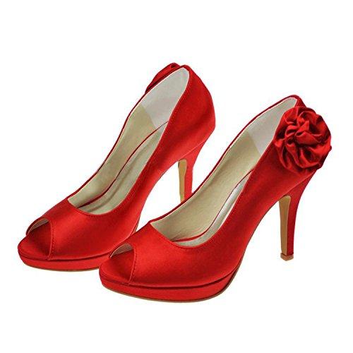 Kevin Fashion - plataforma mujer Rojo - rojo