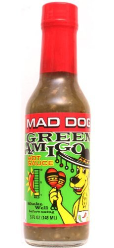 Mad Dog Green Amigo Jalapeno Hot Sauce, 5oz (Mega Death Sauce With Liquid Rage Scoville Units)