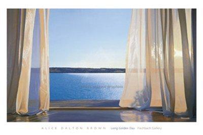(Long Golden Day Art Print Art Poster Print by Alice Dalton Brown, 60x40)