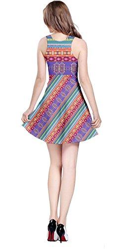 Été Cowcow De Femmes Floral Robe Sans Manches Tribal Aztec Aztec Coloré 2