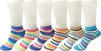 LADIES HUB Girl's Cotton Loafer Socks (LH-LCS-P6, Multicolour, Free Size)- Pack of 6