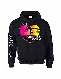 Allntrends Adult Hoodie Sweatshirt Gymnastics Art Pink Print Love Live