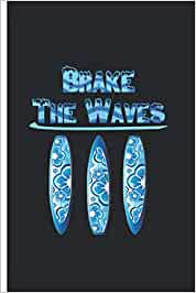 Brake the Waves - Taccuino: Quaderno con motivo surfista a scacchi | Dimensione 6