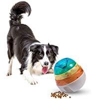 Husdow Dog Treat Dispensing Toy, Interactive Dog Treat Toys Pet IQ Treat Ball for Small Medium Large Dogs & Cats