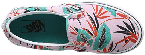 Vans Mädchen UY Classic Slip-on Sneakers Pink (Tropical Leaves Pink Lady)