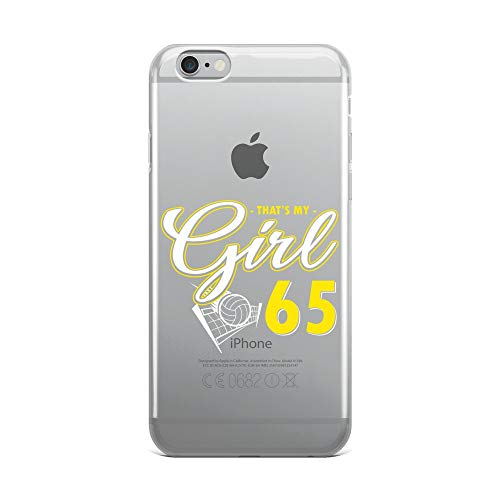 (iPhone 6 Plus/6s Plus Pure Clear Case Crystal Clear Cases Cover My Girl Volleyball 65 Transparent)