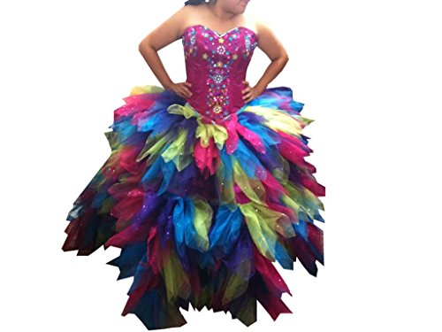 Rainbow Dash Costume Toddler (Handmade Princess Costume Baby Girls' Rainbow Dash Equestria Pony Dress 2 Years)