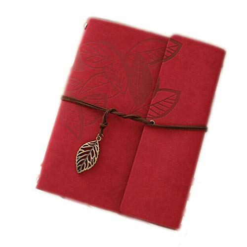 - Fashion Nice 8 Inch Pu Leather Vintage Photo Albums 30 Sheets for Baby Birthday Gifts Home Decor,Red