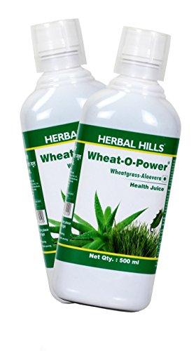 Herbal Hills Wheat-O-Power Juice 500 ml (Combo) | Aloevera Wheatgrass Juice | Sugar Free