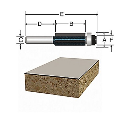 Laminate Flush Trim Carbide Router - 9