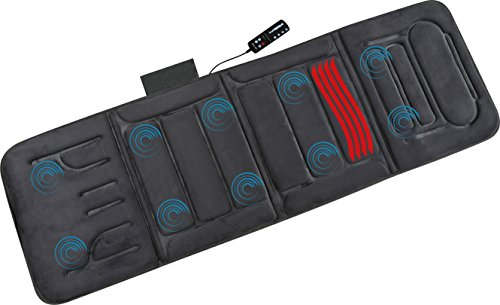 046854177055 - Relaxzen 60-2907P04 10-Motor Massage Standard Mat with Heat, Charcoal Gray carousel main 1