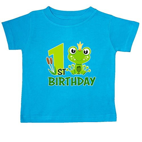 Frog Prince Baby Shower - inktastic 1st Birthday Prince Frog Baby T-Shirt 12 Months Turquoise