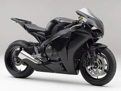 FATExpress Gloss Black Aftermarket Complete Painted Fairing Injection Bodywork ABS Plastic Molding Kit w/Tank Cover for 2008-2011 Honda CBR1000RR CBR 1000 RR 1000RR Windshield & Heat - Abs Molding Plastic