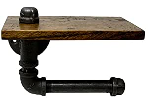 Turnbull Farms™ Reclaimed Wood and Pipe Toilet Paper Holder (Jacobean)