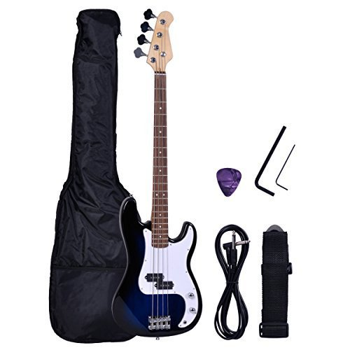 Polar Aurora NEW Full Size 4 Strings Blue Electric Bass Guit