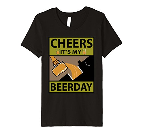 Kids Birthday Beer T-Shirt - Novelty Funny Graphic Beers T-Shirts 12 Black (Spirit Halloween Beer Pong)