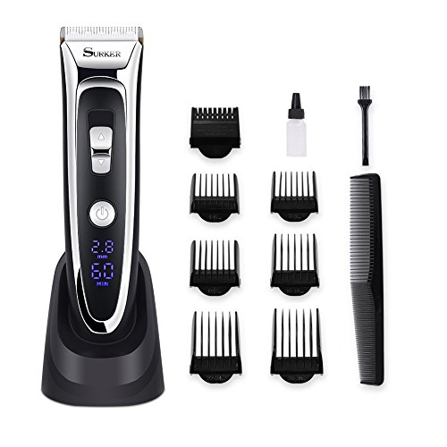 SURKER Hair Clipper Rechargeable Hair Trimmer Cordless Hair Cutting Kit...
