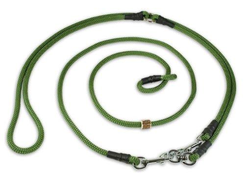 Mystique Retrieverleine Umhängeleine Hunting Profi 8mm M - 295cm olivgrün mit Zugbegrenzung