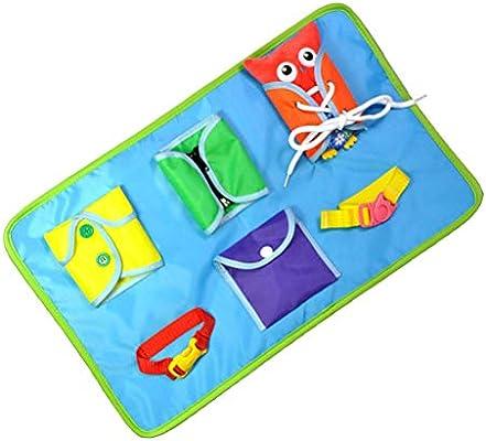 SUPVOX Aprendizaje de habilidades b/ásicas para la vida Juguete educativo Aprende a vestir juguetes para ni/ños de Quiet Book