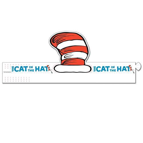 Eureka EU-861000BN Dr. Seuss Cat's Hat Wearable Cut Out Hats, 32 Per Pack, 2 Packs