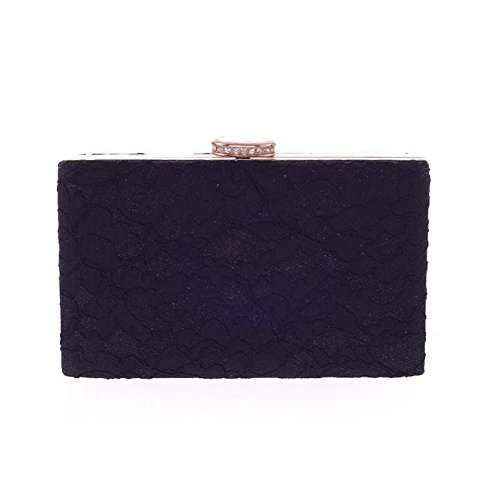 Elegant Floral Lace Evening Clutch Bridal Wedding Handbag Purse Chain Prom Bridal Wallet for Women