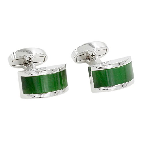 Emerald Green Stone Cufflinks | 55th Anniversary Gift for Him | Emerald Wedding Anniversary | Cuff Links
