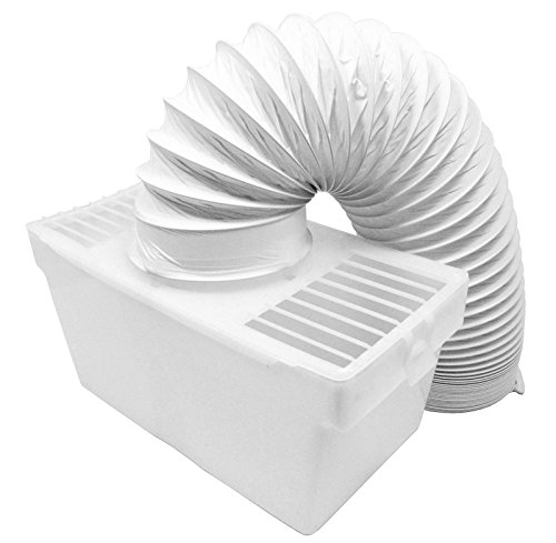 SPARES2GO Universal Condenser Vent Box & Hose Kit for Bush Tumble Dryers (4