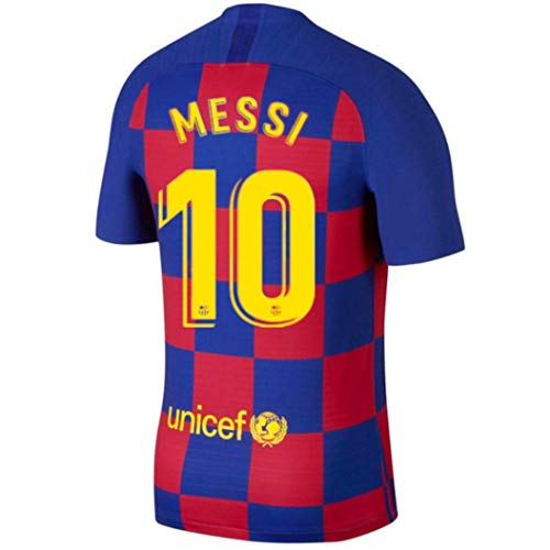 CRMEJS 10 Messi Shirt - Barcelona Home Soccer T Shirt for Mens Red/Blue