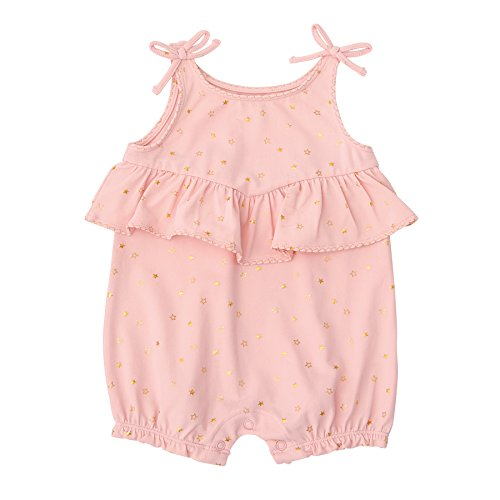 Mud Pie Baby Girls Sparkle Sleeveless Bubble Romper Playwear, Pink, 9-12 Months (Bubble Sleeveless)