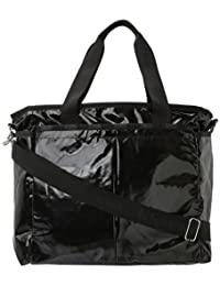 LeSportsac Ryan Baby Diaper Bag,Black Patent,one size