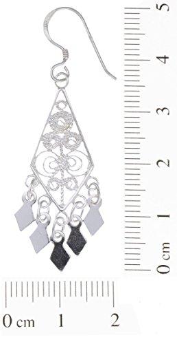 Boucles d'Oreilles Pendantes Femme - E-11386 - Argent 2.4 Gr