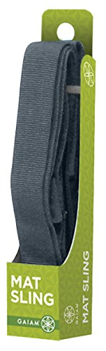 Gaiam Yoga Mat Sling, Cool Grey