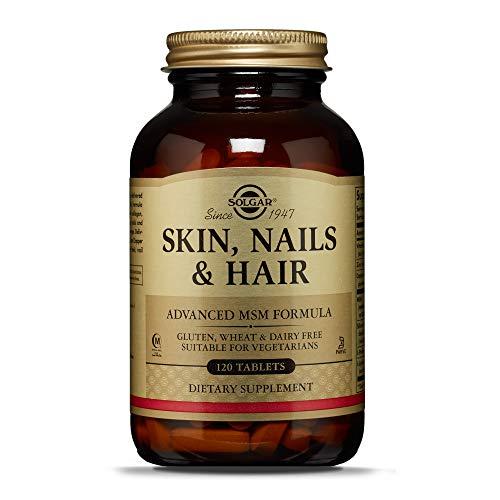 Solgar Comprimidos para Pelo, Piel y Unas, Vitamina C para la formacion de colageno, Apto para Veganos, 120 Tabletas