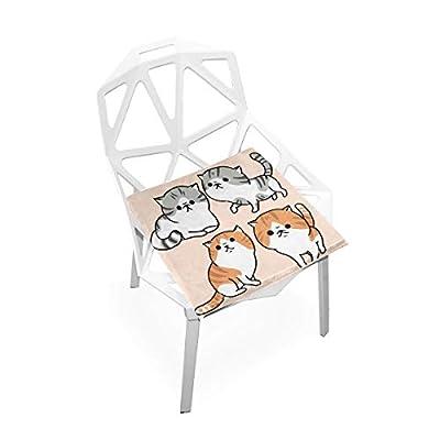 Bardic FICOO Home Patio Chair Cushion Funny Animal Kitten Square Cushion Non-Slip Memory Foam Outdoor Seat Cushion, 16x16 Inch: Home & Kitchen